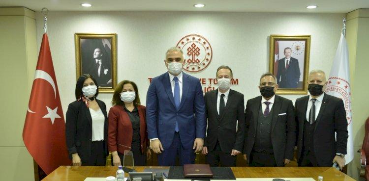Kültür ve Turizm Bakanı Mehmet Nuri ERSOY, Turizm İş Birliği Derneği (TUR-İD) Nezaket Ziyareti