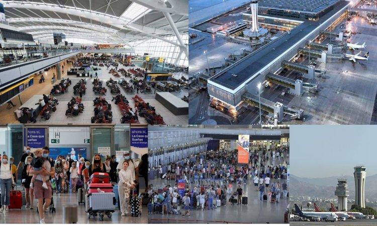 Malaga Havaalanında İsanyolların Yolcu İsyanları